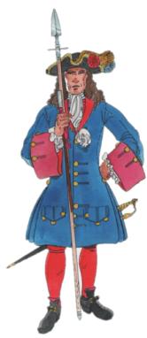 Cia Espasers Tinent Joan Parera 1706