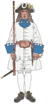 Regiment Rubí recluta de Mallorca 1713
