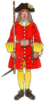 Regiment de la Reina 1708
